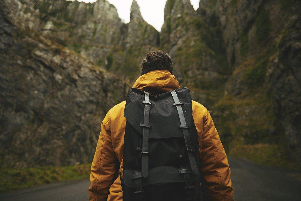 adult, adventure, backpack